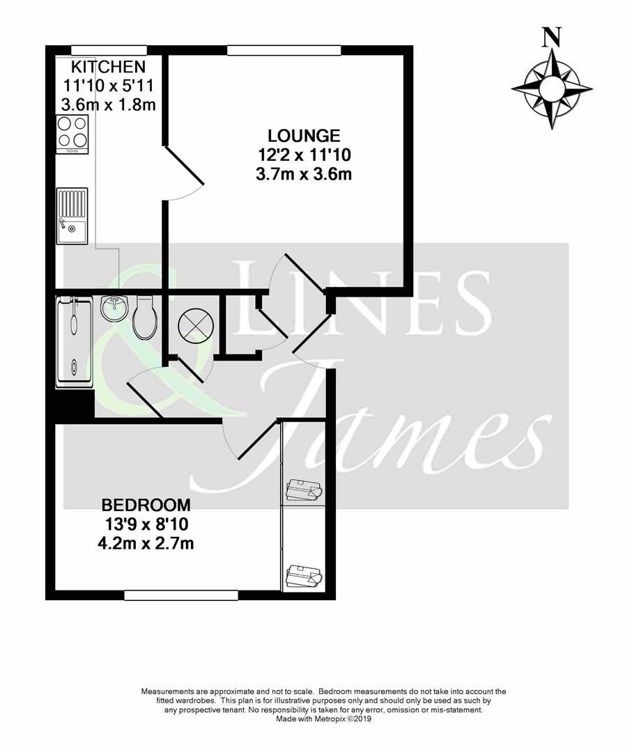 Floorplan for Greenacres, North Parade, Horsham